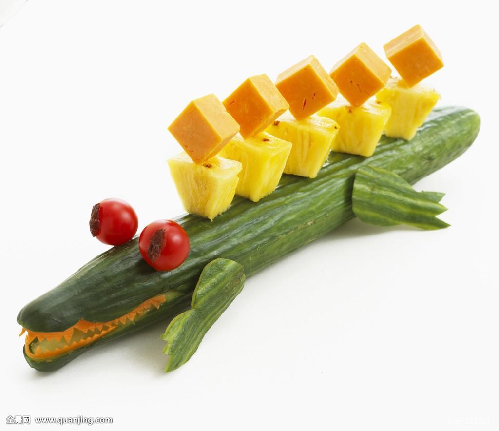 动物形象,动物造型,安放,儿童饮食,儿童聚会,鳄鱼,黄瓜,黄瓜属,葫芦图片