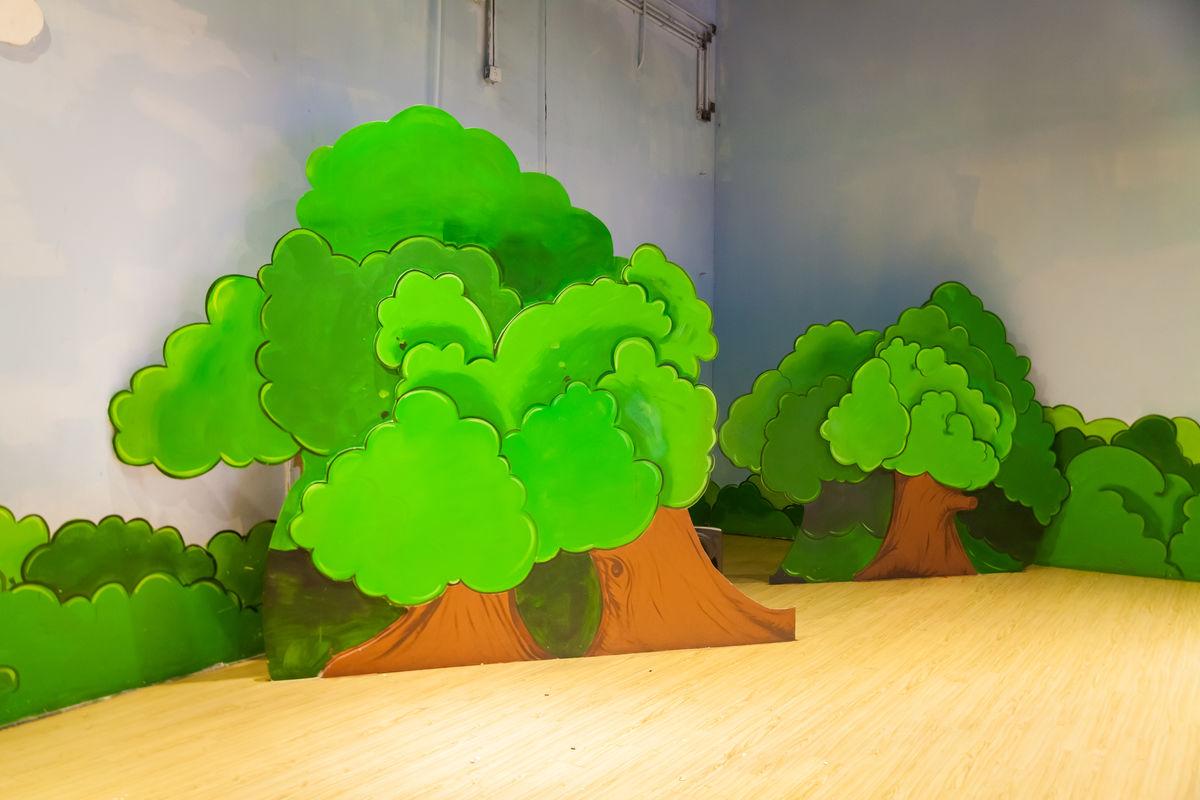 幼儿园表演森林背景分享展示图片