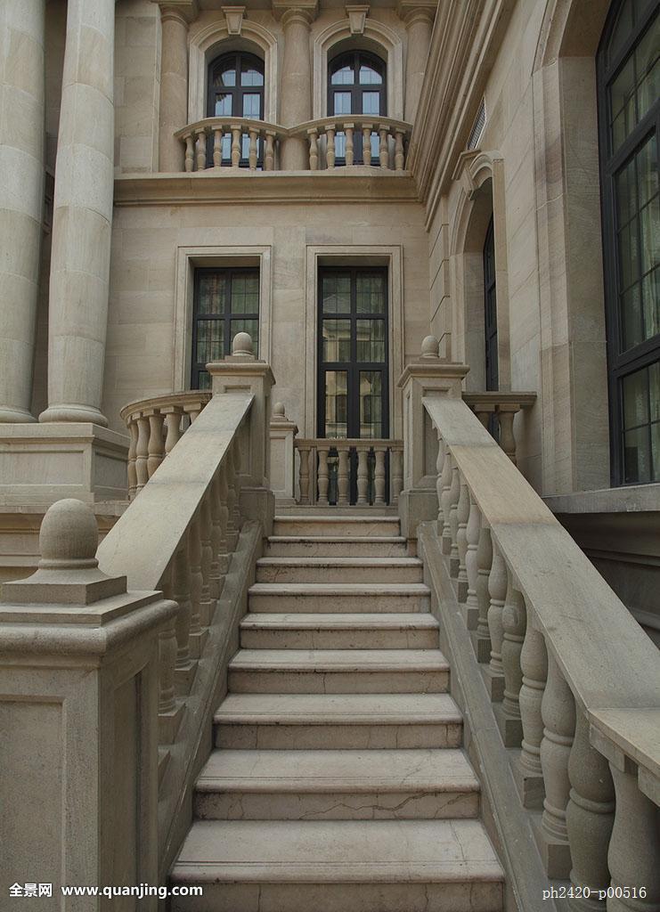 欧式建筑栏杆柱子楼梯图片