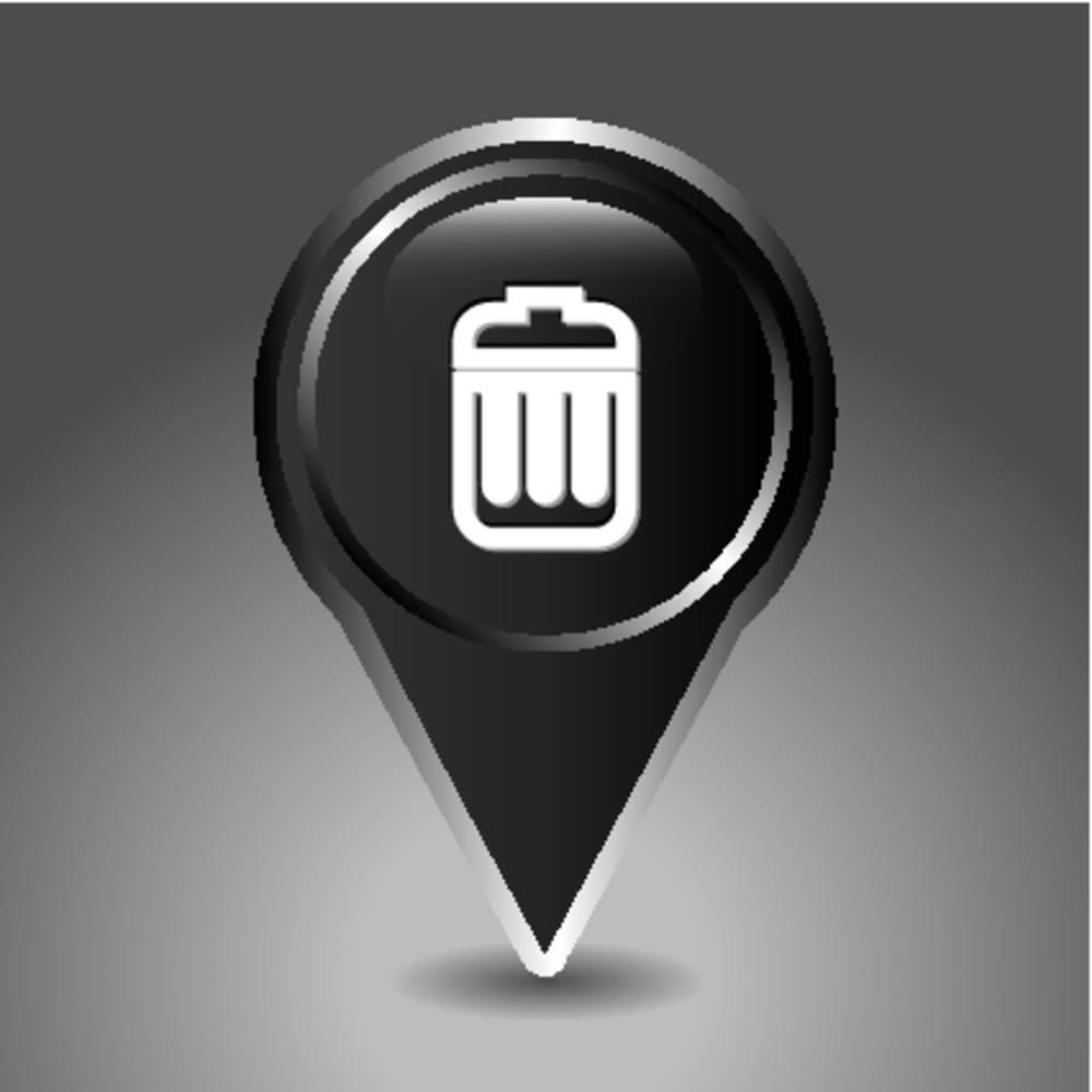 垃圾,清除,象征,指示,位置,插画,标识,航行,标签,地点,方向,目的地图片