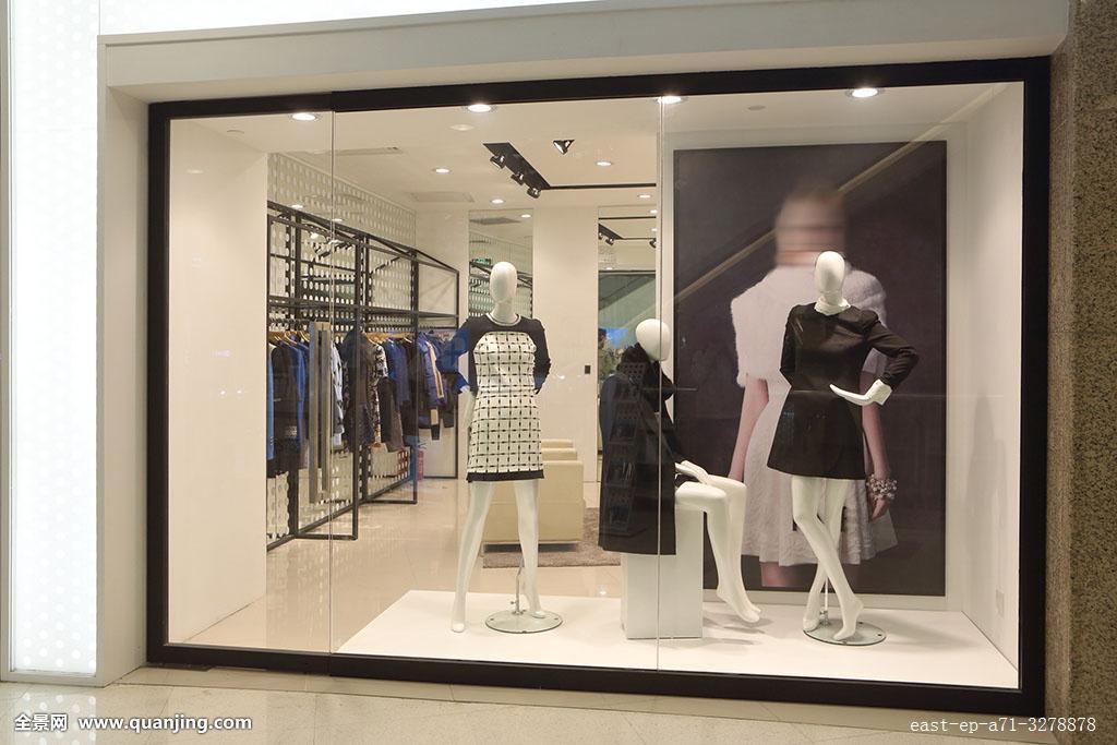 服装橱窗服装店图片