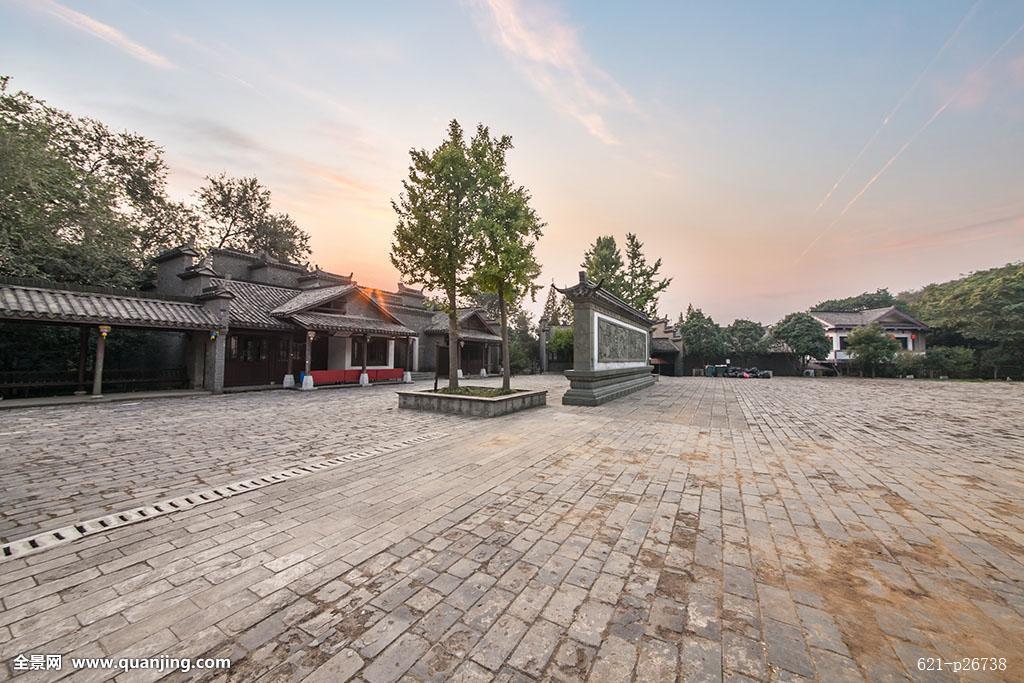 全景,户外,中国,中国元素,中式,亚洲,传统,古典,古刹,古建筑,屋檐图片