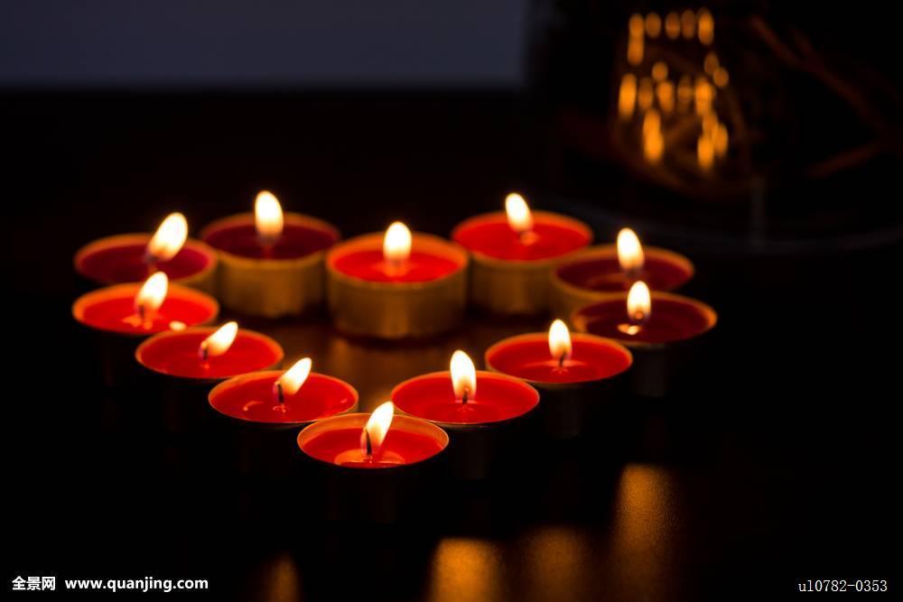 蜡烛,心形图片