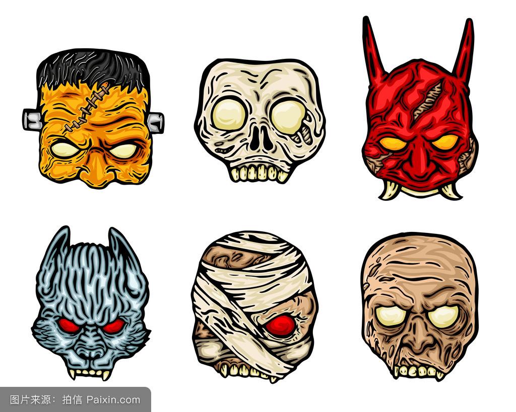 木乃伊,害怕,面具,阿凡达,吓人的,怪物,日本人,僵尸,南瓜,纹身,令人毛图片