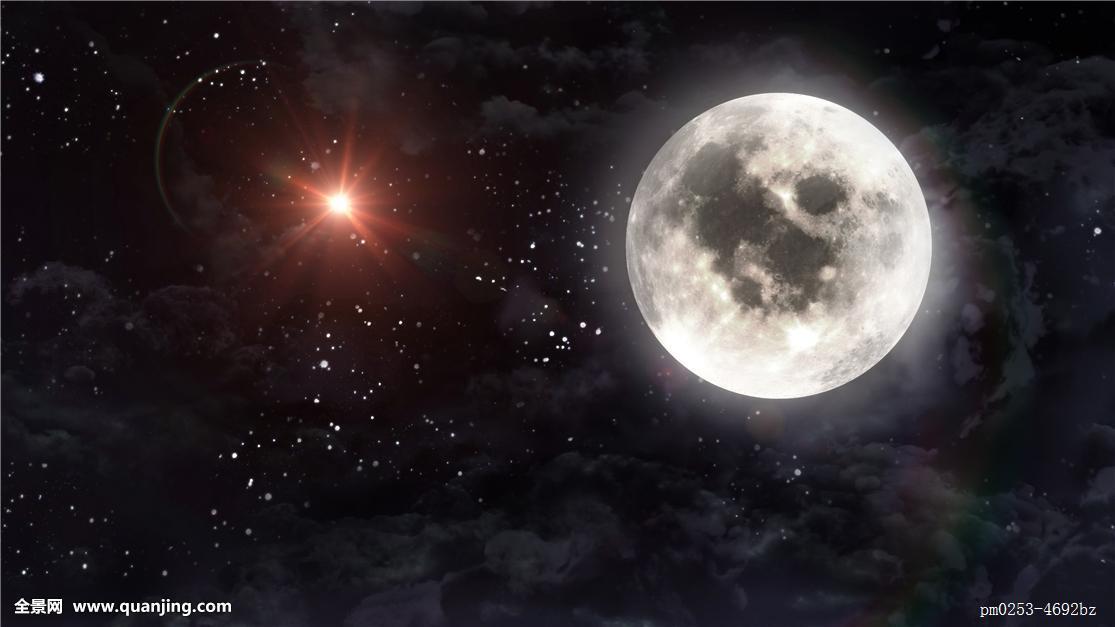 大,月亮,火星,星球,星星图片