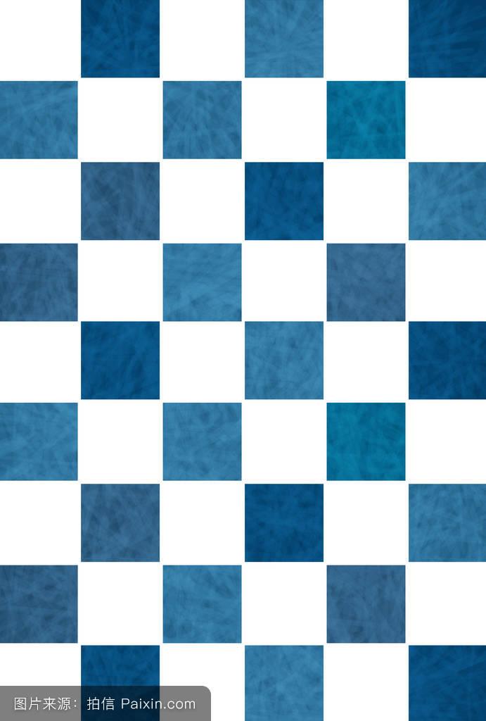 海,格子,蓝色,靛蓝,背景,日本纸,明信片,材料,炎热的夏天,明信片模板图片