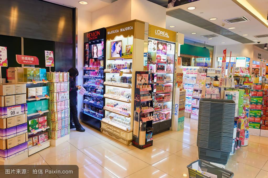 香港化妆品��-)��(:`d_零售,消费主义,购物,商店,出口,商业,超市,美容护理,中心,卖,化妆品