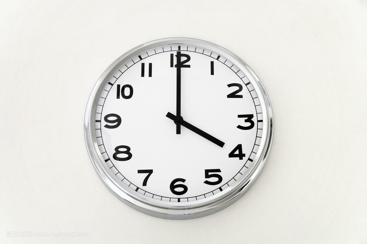 时间_室内,白色背景,一个,棚拍,静物,分钟,时间,无人,测量工具,针,现代