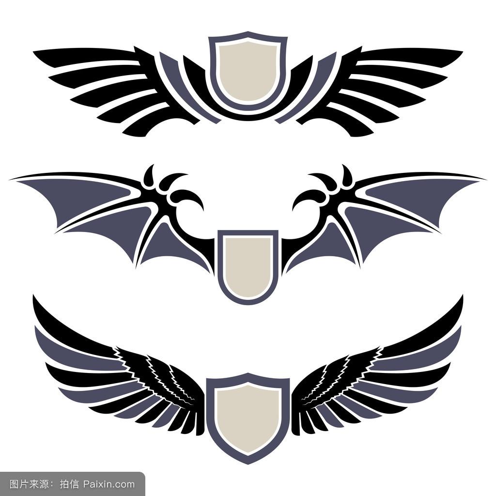 翅膀.设计元素集图片