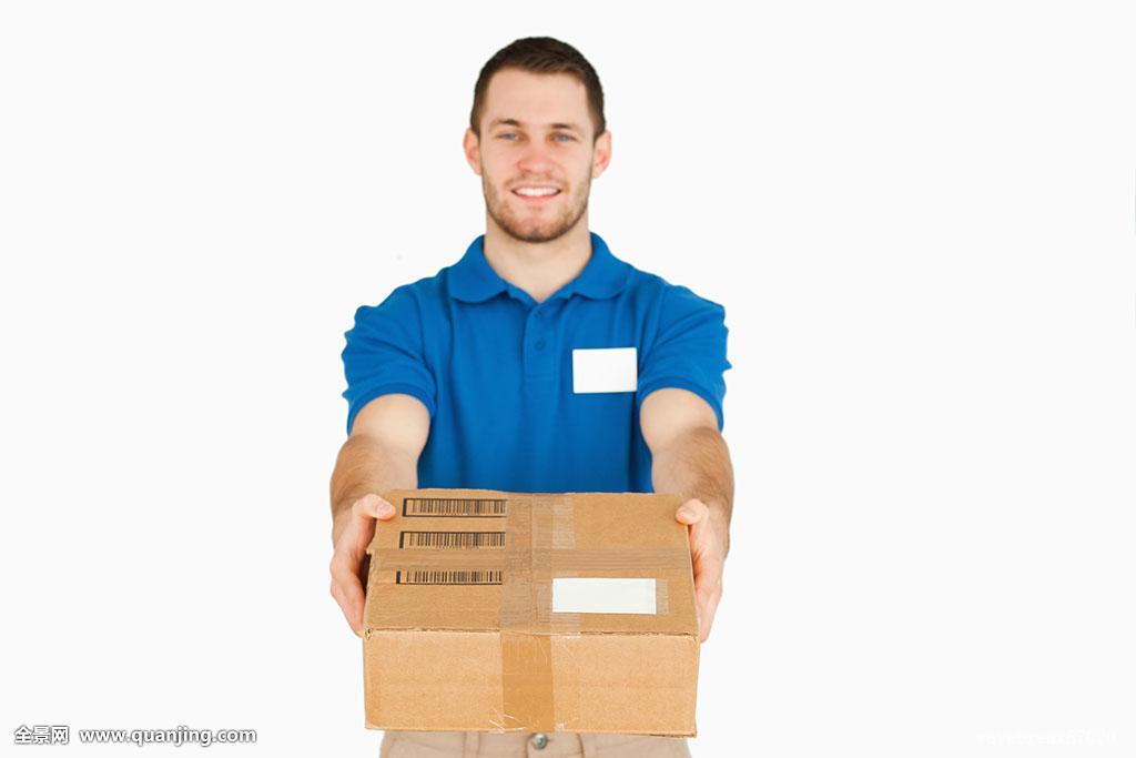 销售助理实周记_微笑,年轻,销售助理,递给,上方,包裹