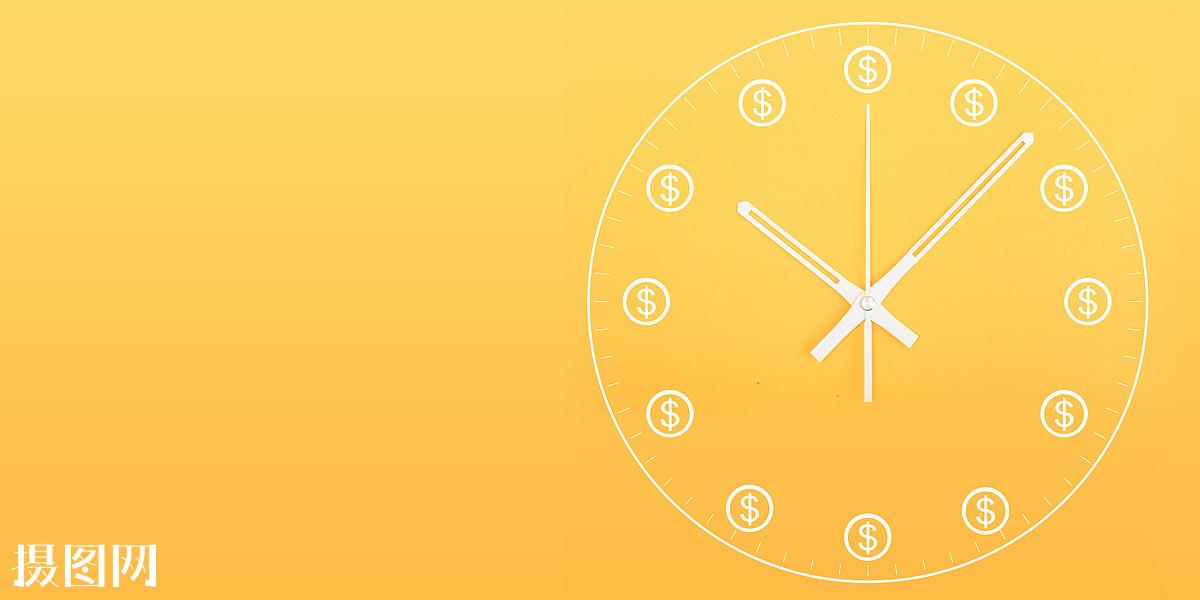 商业金融创意时钟抽象合成概念表达经济简约商业素材ppt配图图片