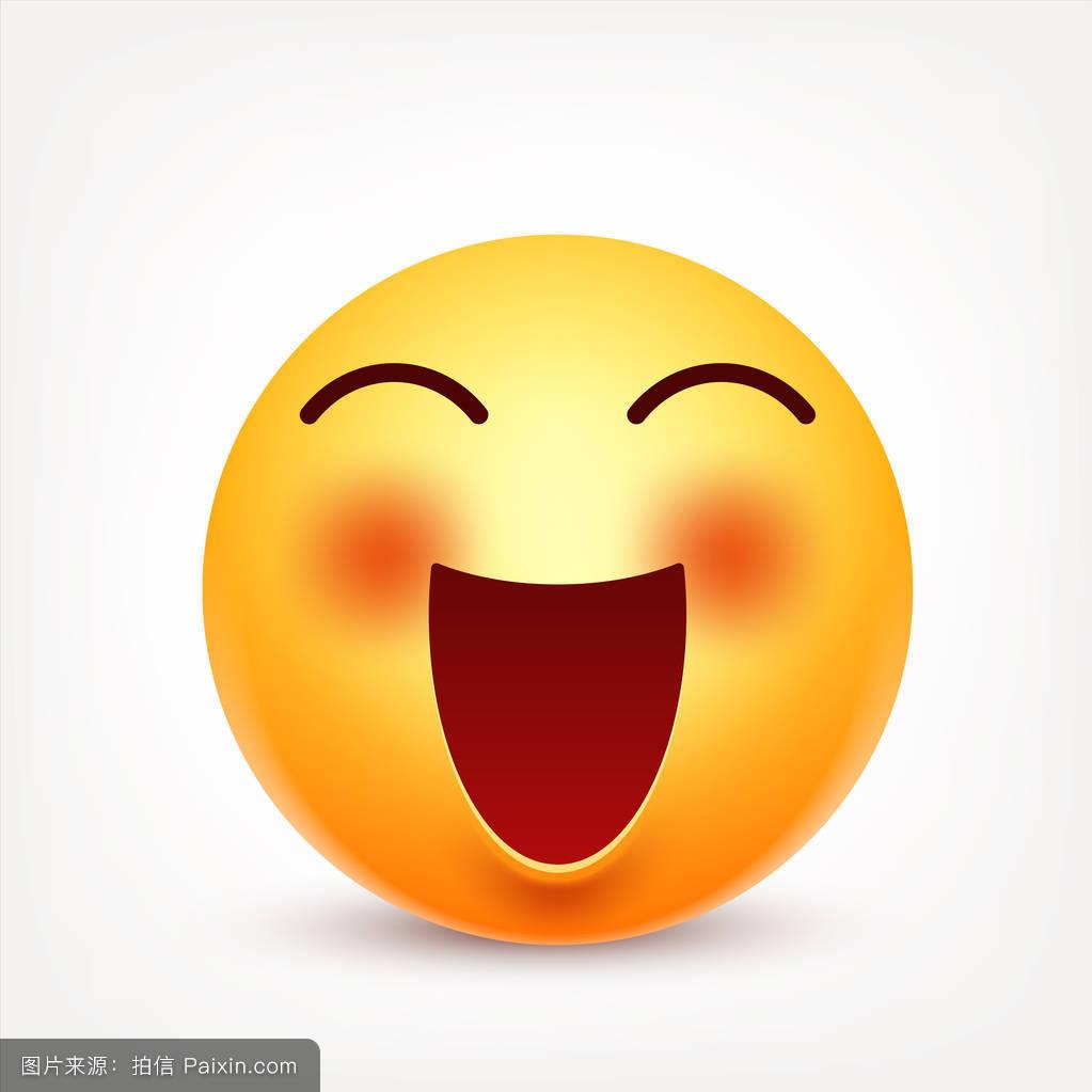 笑�9�9�#��'_卡通,口,现实,性格,情感的,符号,表情符号,笑话,面对,有光泽的,黄色