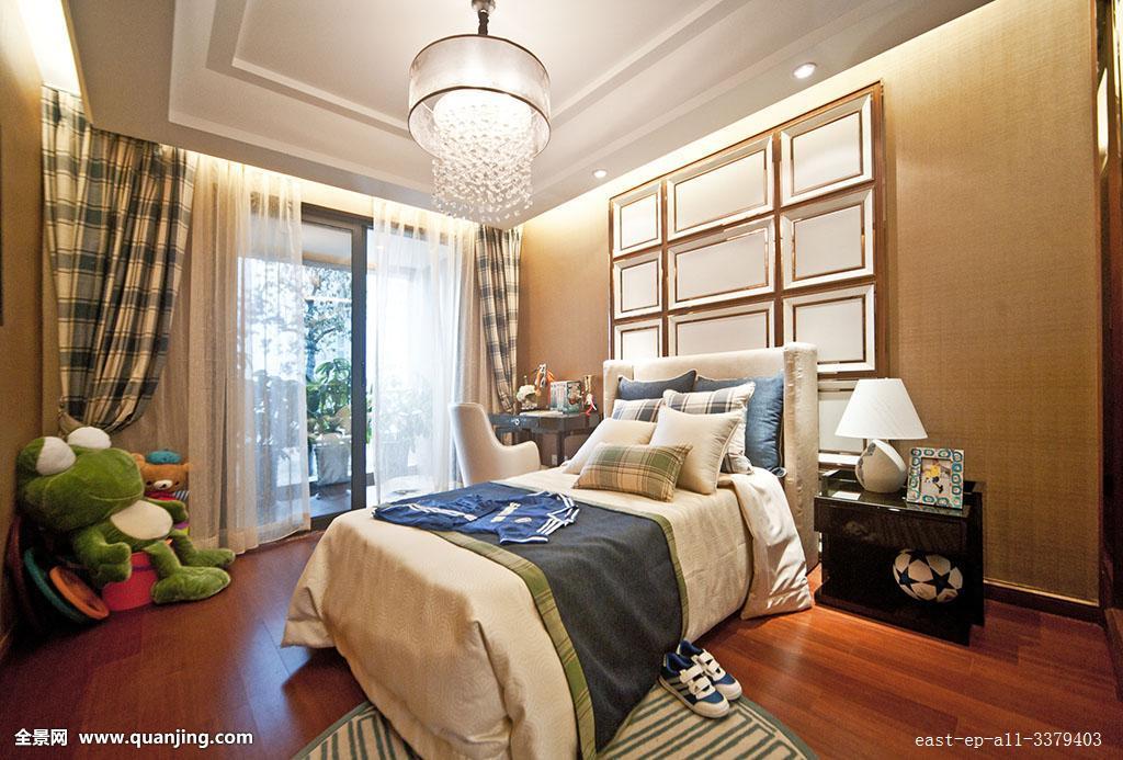卧室,无人,现代,优美,枕头,整齐的,住房,住宅房间,住宅内部,装饰,装饰图片