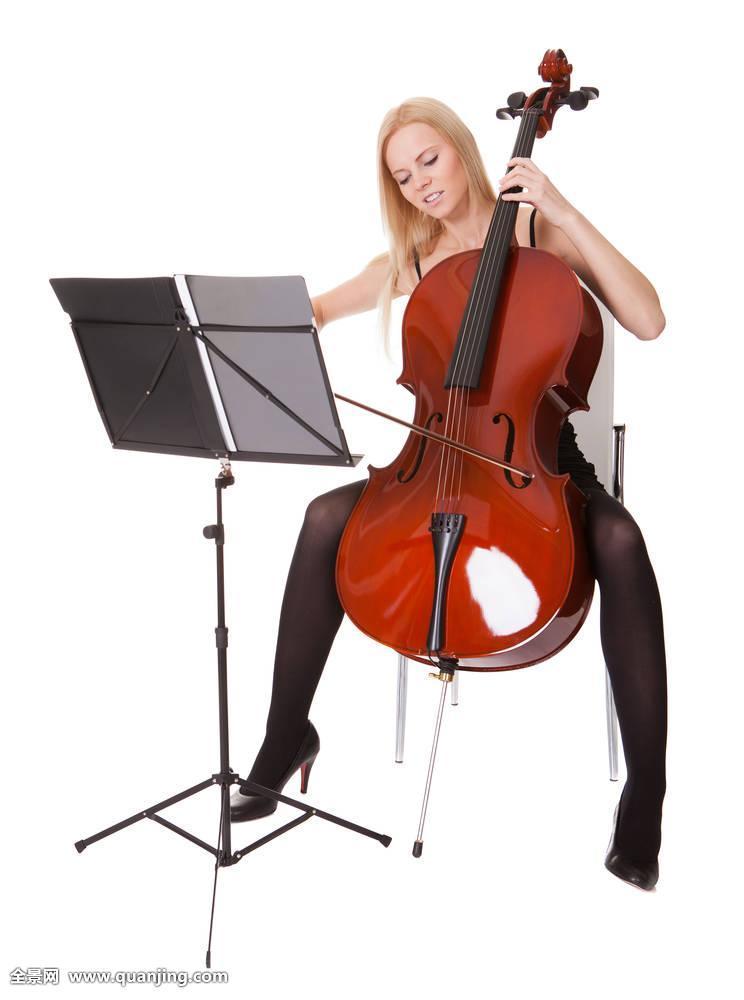 老式,艺术,背景,仰视,白色,乐弓,躬曲,褐色,大提琴手,大提琴,古典图片