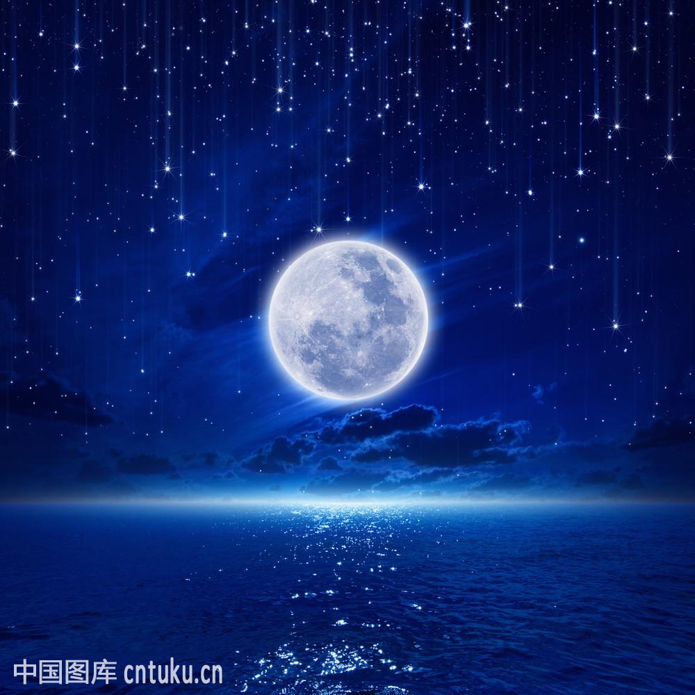 充满,落下,梦想,天空,星星,夜晚,永远,月光,月亮,宁静,天际图片