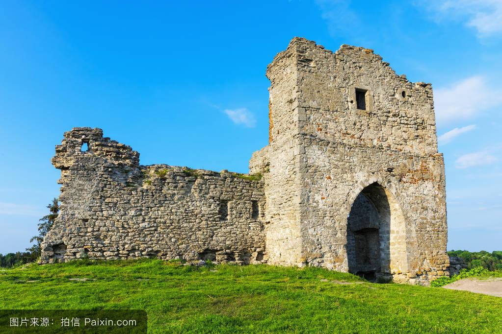 kremenets的古城堡遗址,乌克兰图片