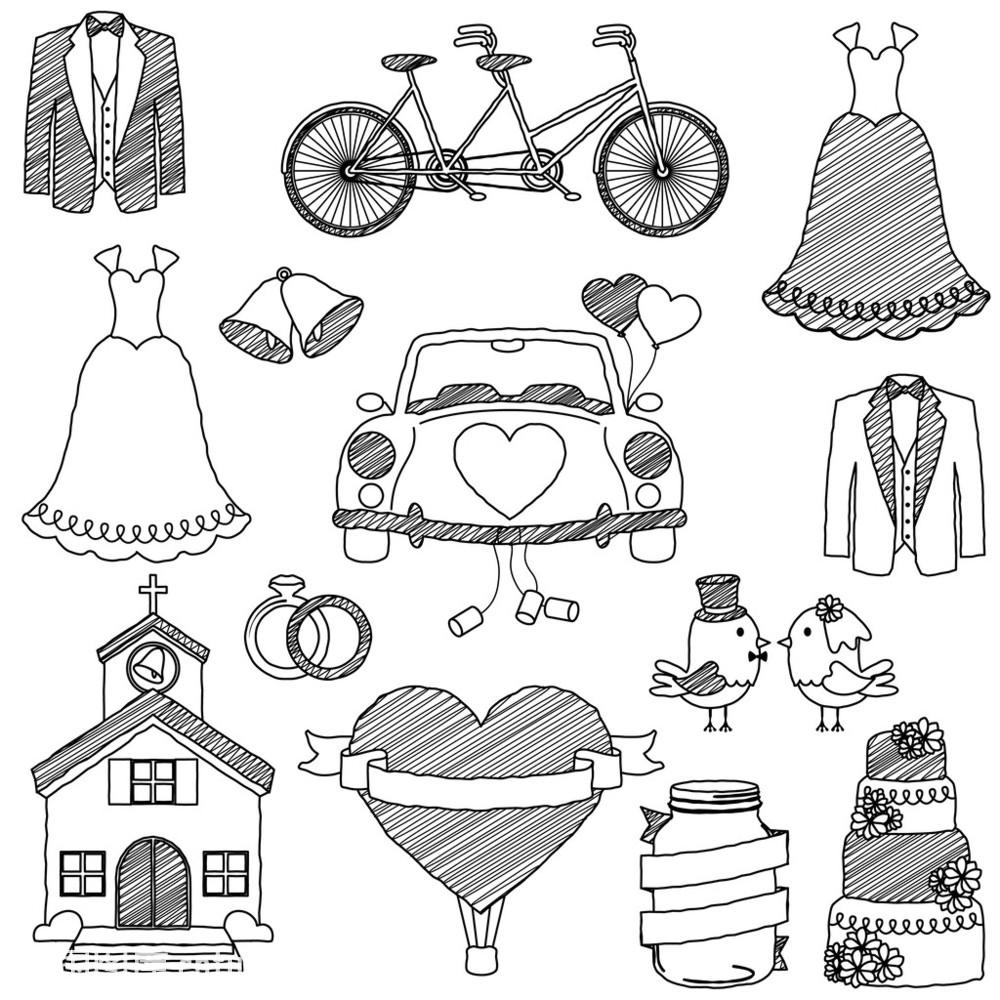 标志,蛋糕,订婚,婚礼,教堂,戒指,浪漫,铃,轮廓,女服,气球,热气球,线条图片