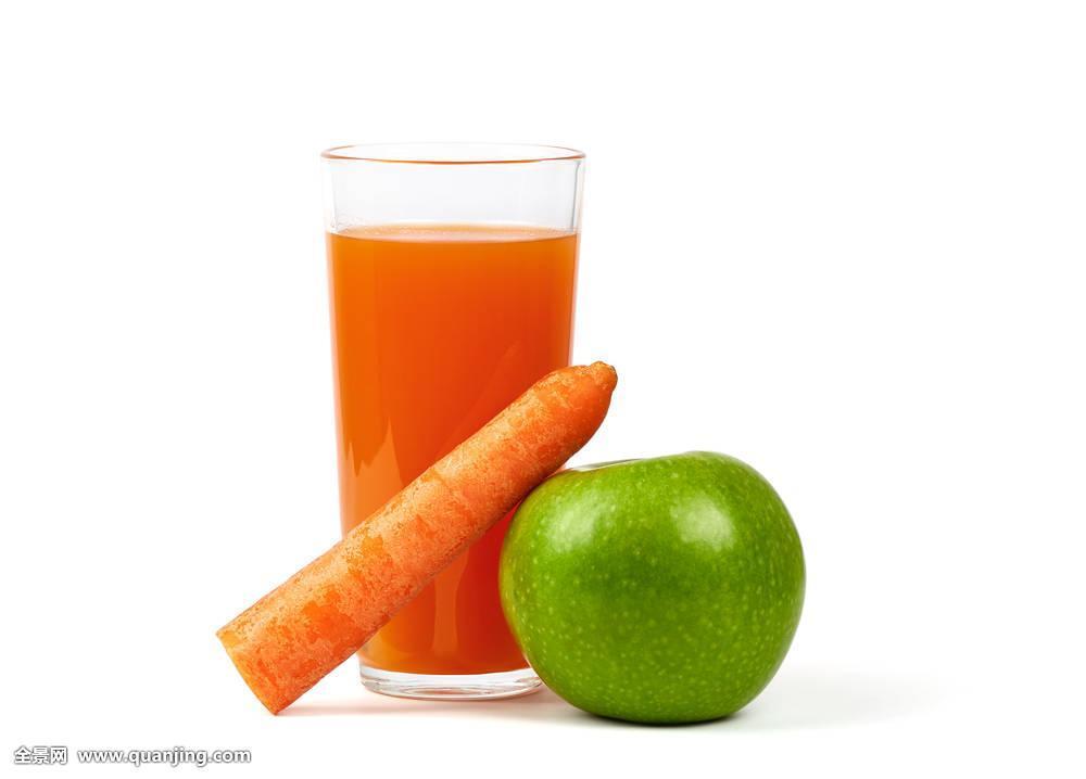 苹果奇异果汁_新鲜,苹果,胡萝卜,玻璃,果汁