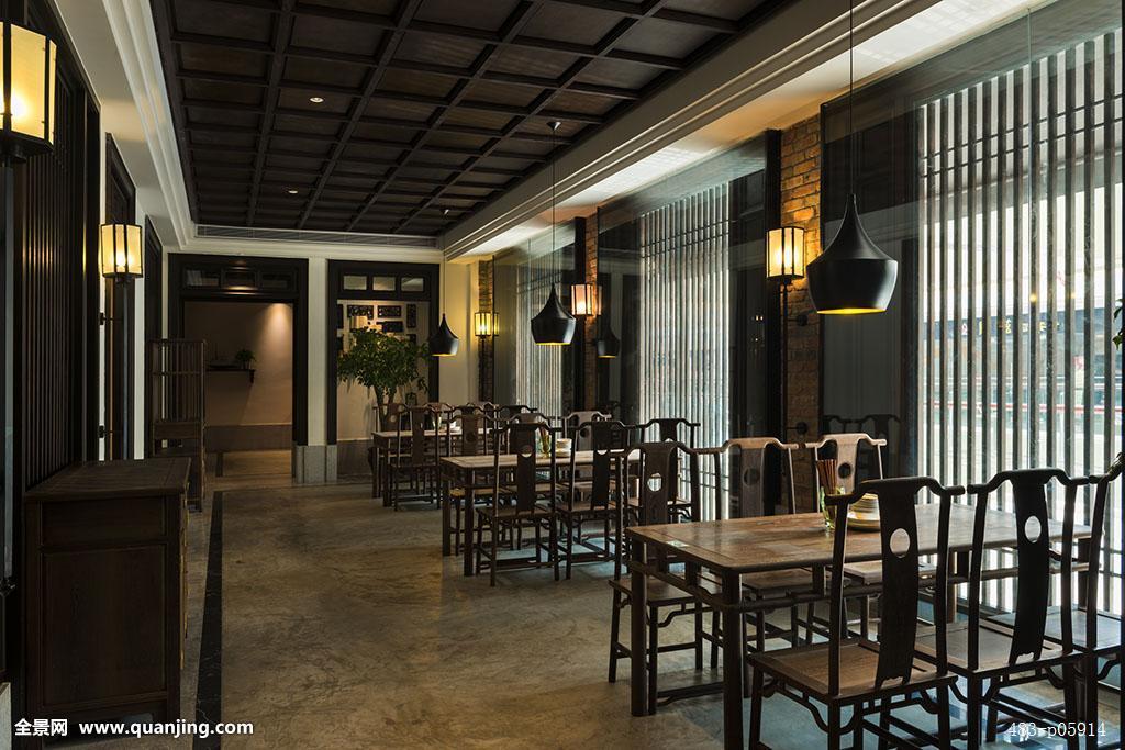 橱窗餐厅,餐厅,饭店,装修,软装,室内设计,风格,古典,复古,中国,东方图片
