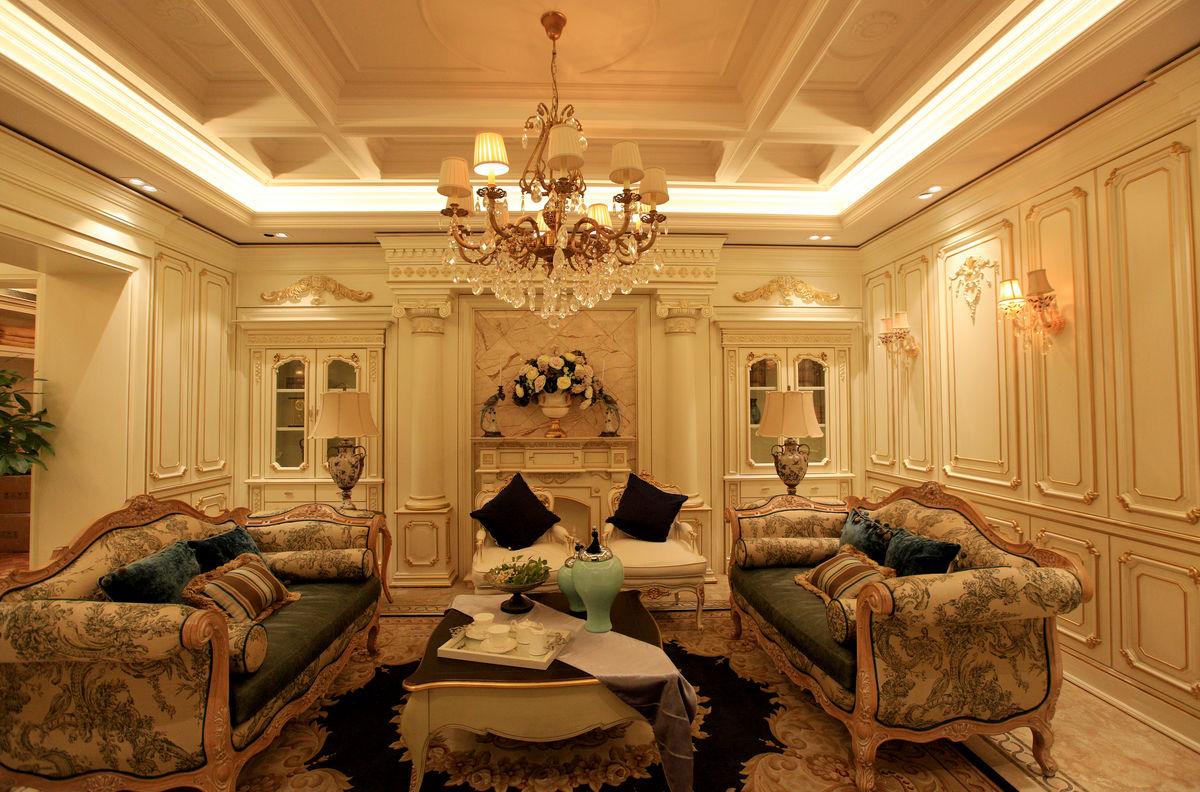 装饰装修,实木家具,整体家具,客厅,沙发,灯具,软装,茶几,生活,欧式图片