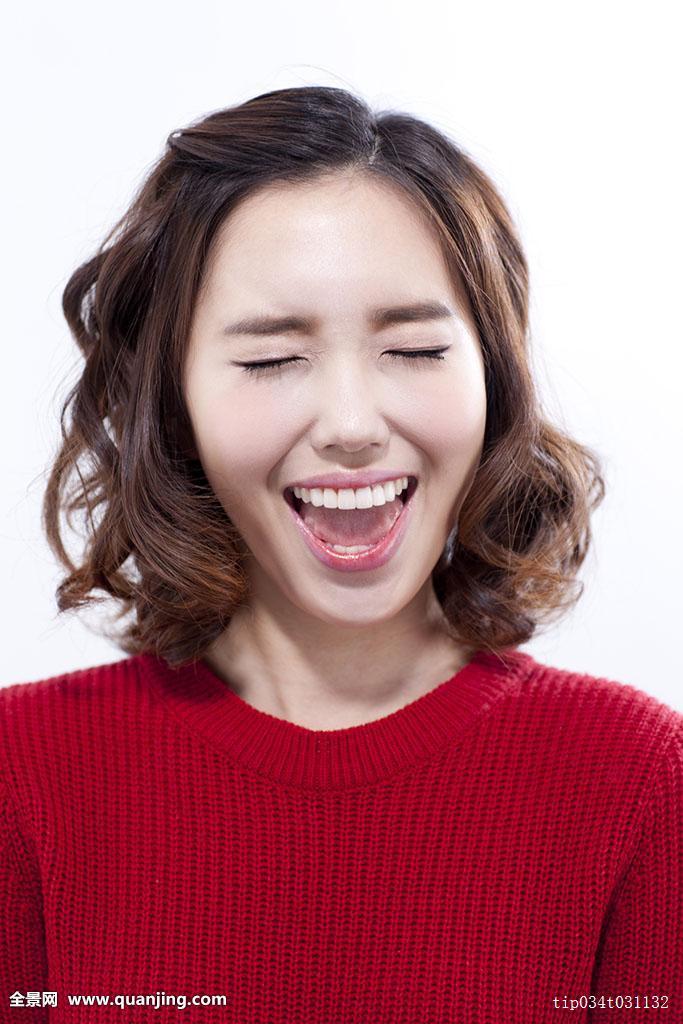 美女,青春,正面,年轻人,休闲服,时尚,头像,表情,韩国人,一个人,发型图片