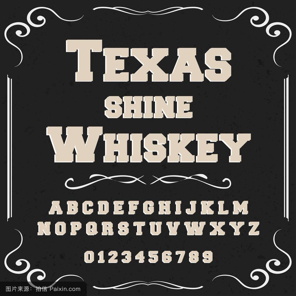 字体字体脚本旧货德克萨斯闪耀威士忌字体字体标签和任何类型的设计图片