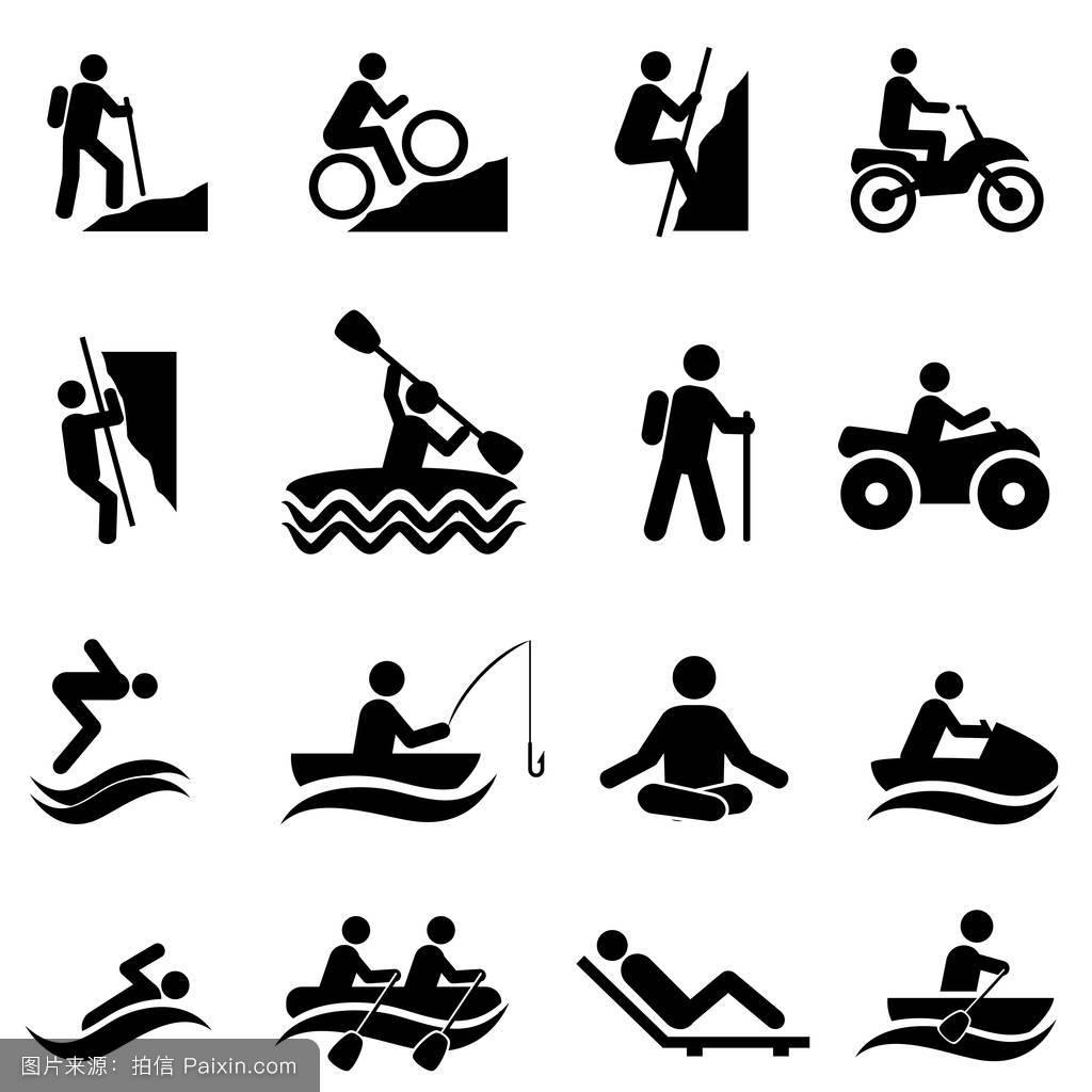 休闲和娱乐活动图标