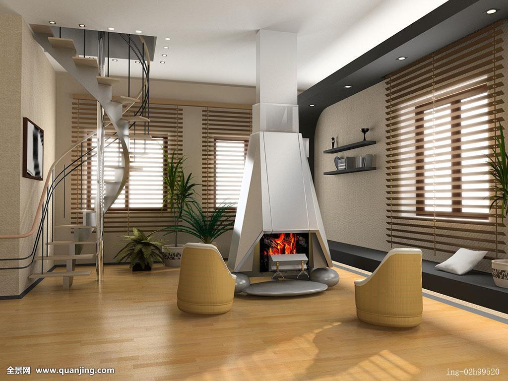 现代,室内设计,壁炉图片