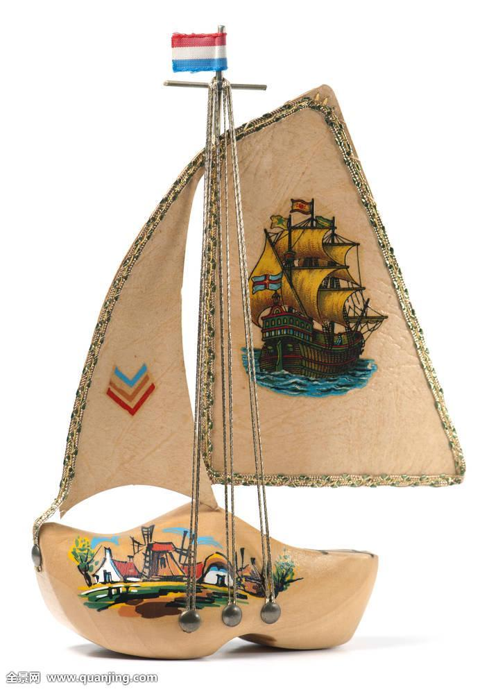 木头,荷兰文化,荷兰,欧洲文化,木底鞋,鞋,纪念品,船,帆船,工艺,传统图片