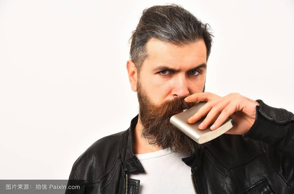 严重的,赶时髦的人,复制空间,残酷的,分离,小胡子,白色,喝,发型,黑色图片