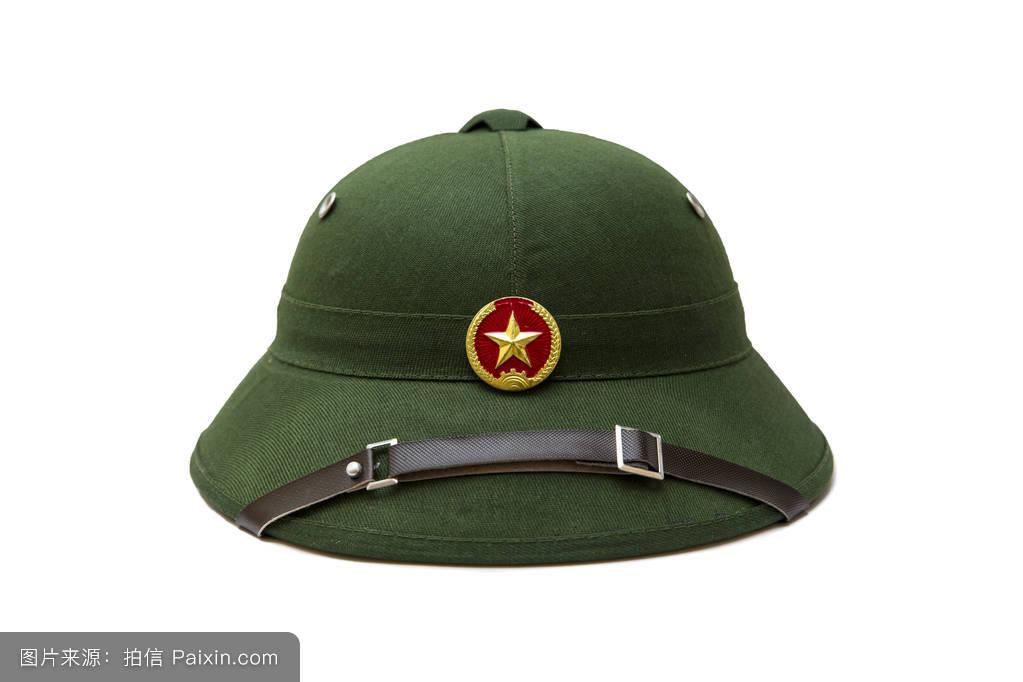 帽子_带白色带子的越南帽子