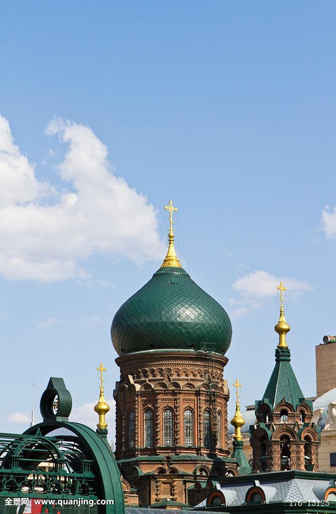 艺术建筑广场,教堂,大教堂,商业区,巴洛克式,艺术,保护,遗产,俄式,砖图片