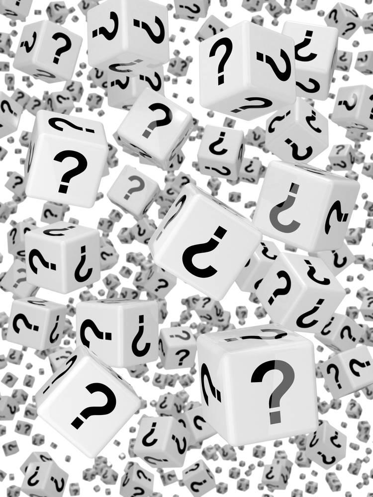 黑白,骰子,落下,问号图片