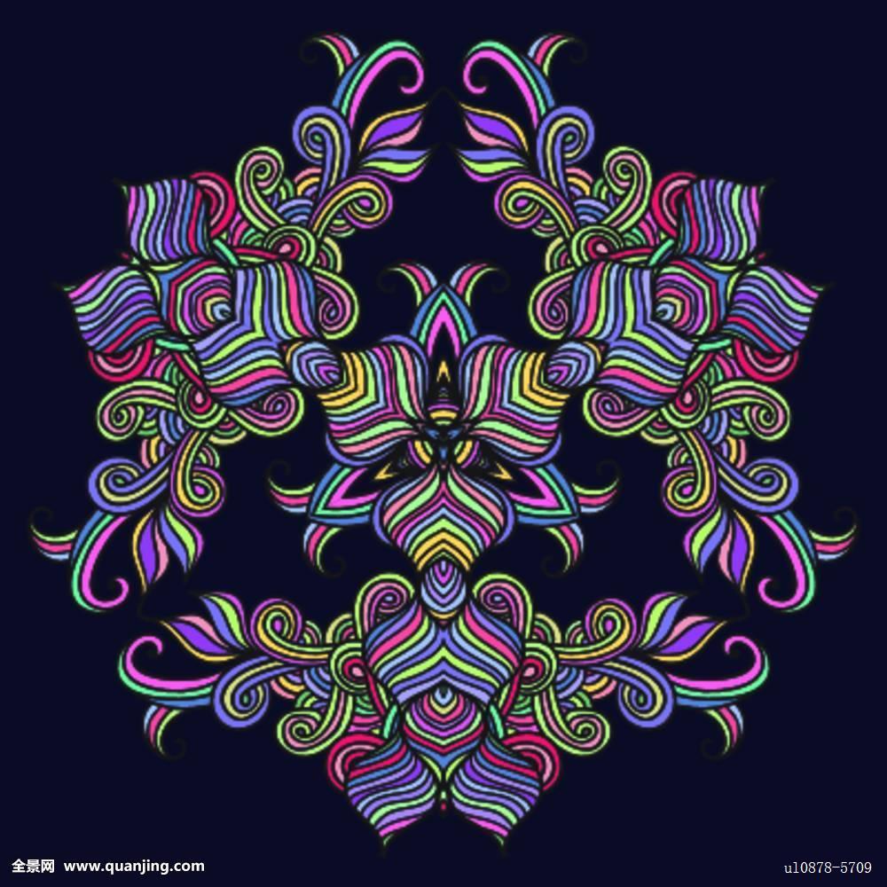 绘画,种族,传统,佛教,形状,抽象,怀旧,优雅,维多利亚时代风格,创意,插图片