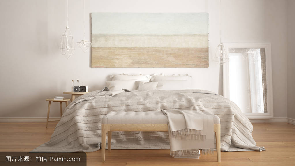 经典的卧室,北欧现代风格,简约图片