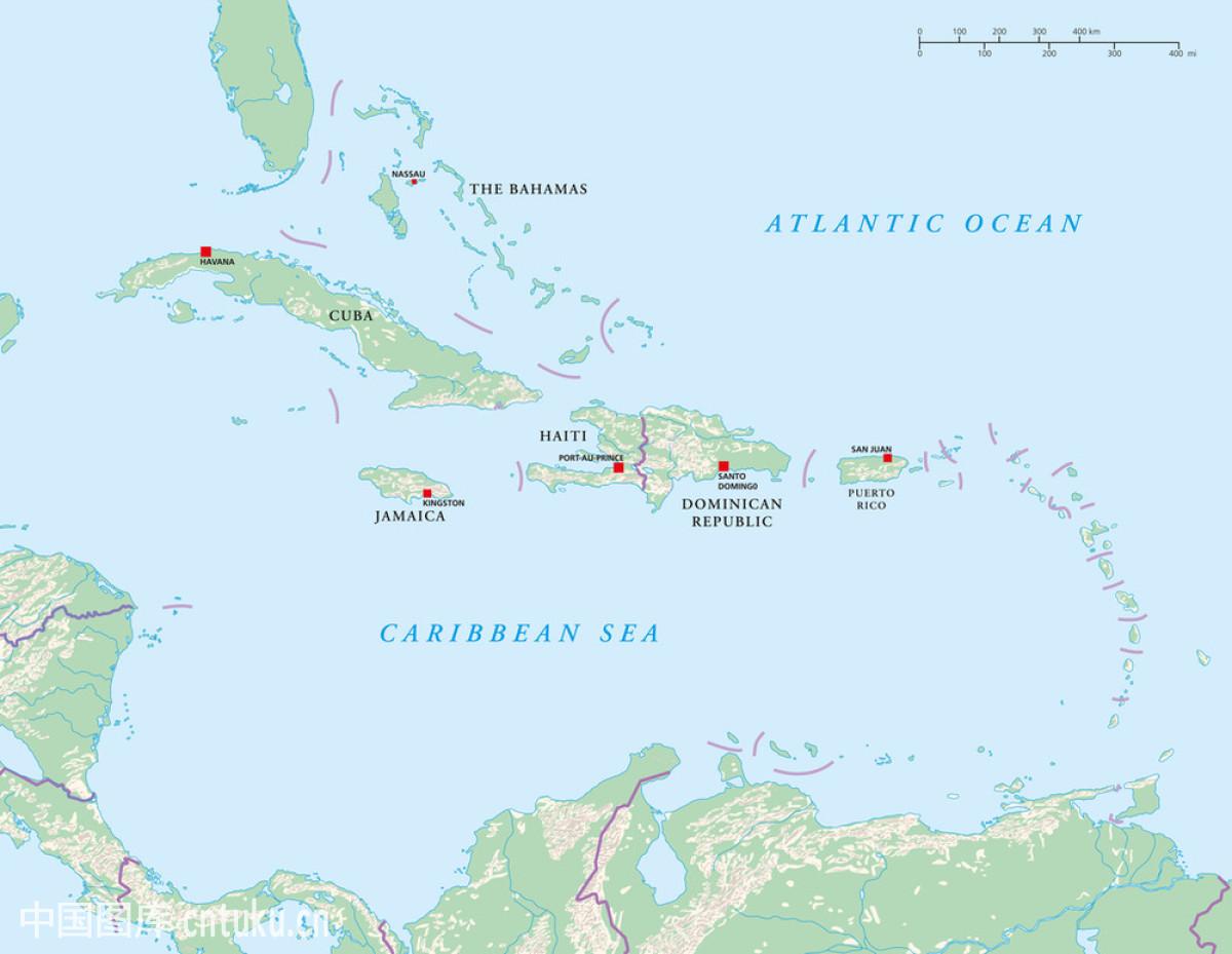 安的列斯群岛,巴哈马群岛,巴拿马,波多黎各,地球仪,地图,多米尼加图片