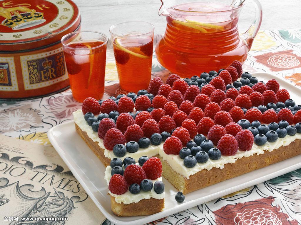 烤蛋糕机器_柠檬水,果味,旗帜,烤盘,蛋糕