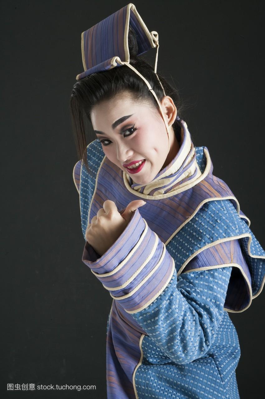 亚洲,数字,只有成人,只有女人,女人,戏服,头饰,假发,舞台服,脸谱,古装图片