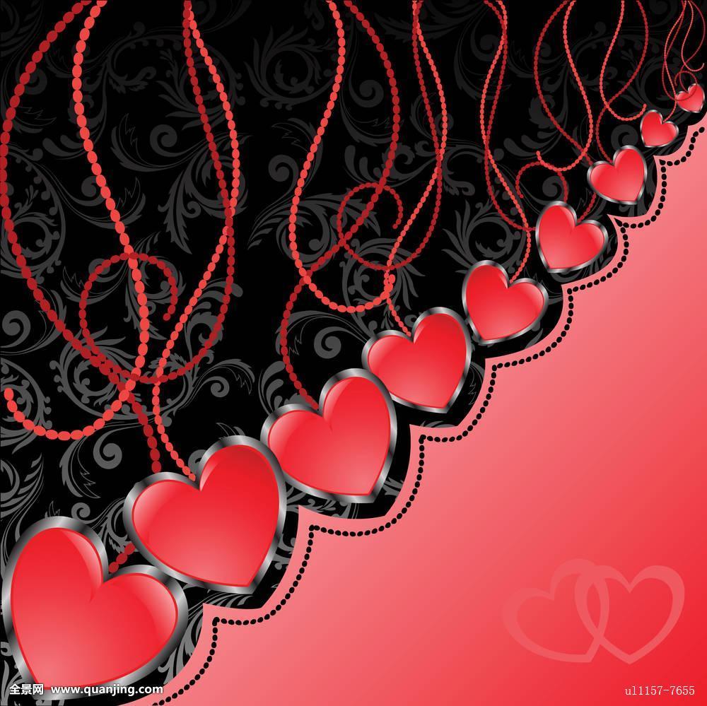 黑色,红色背景,心形图片