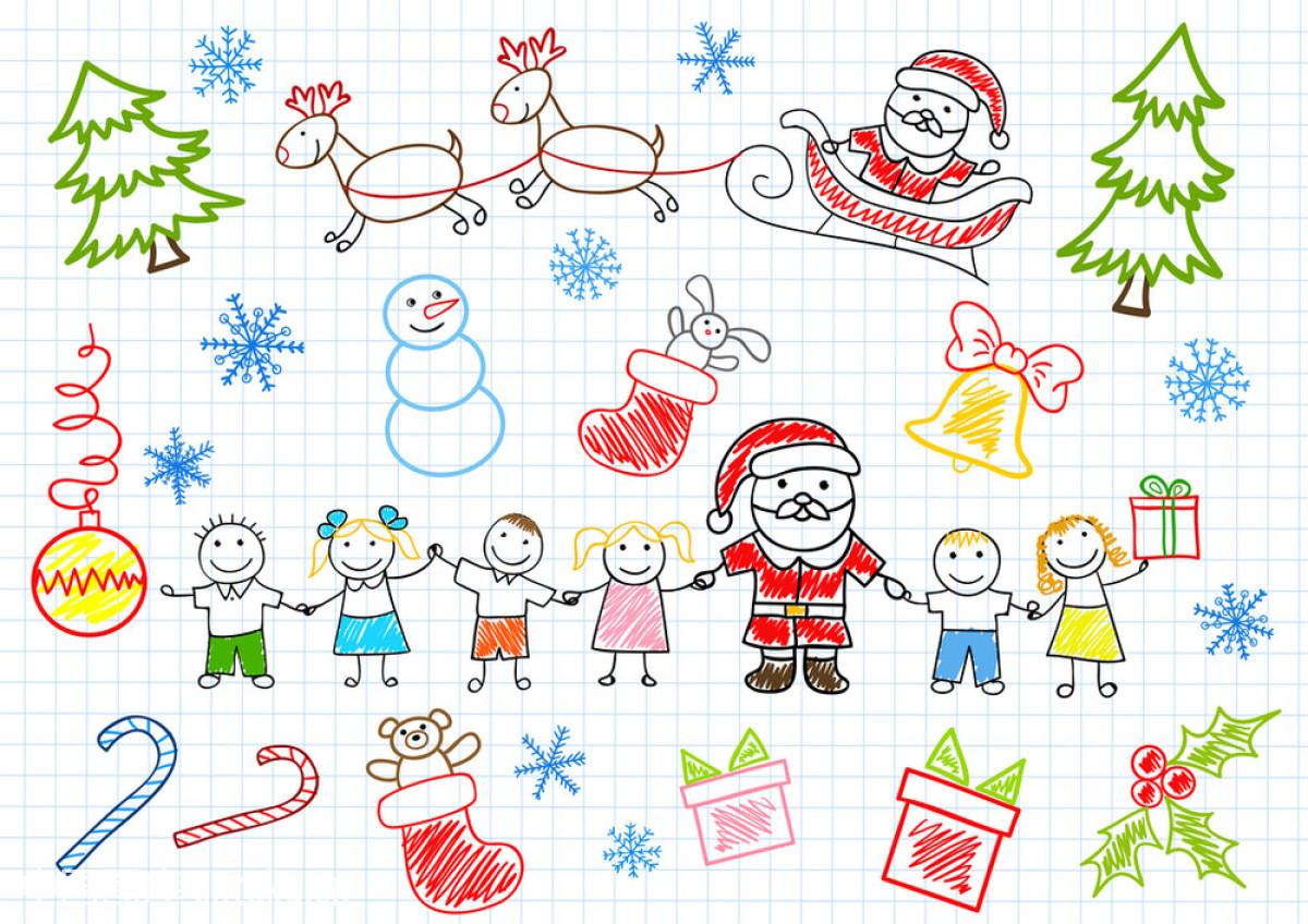 圣诞节帽子绘画简单分享展示图片