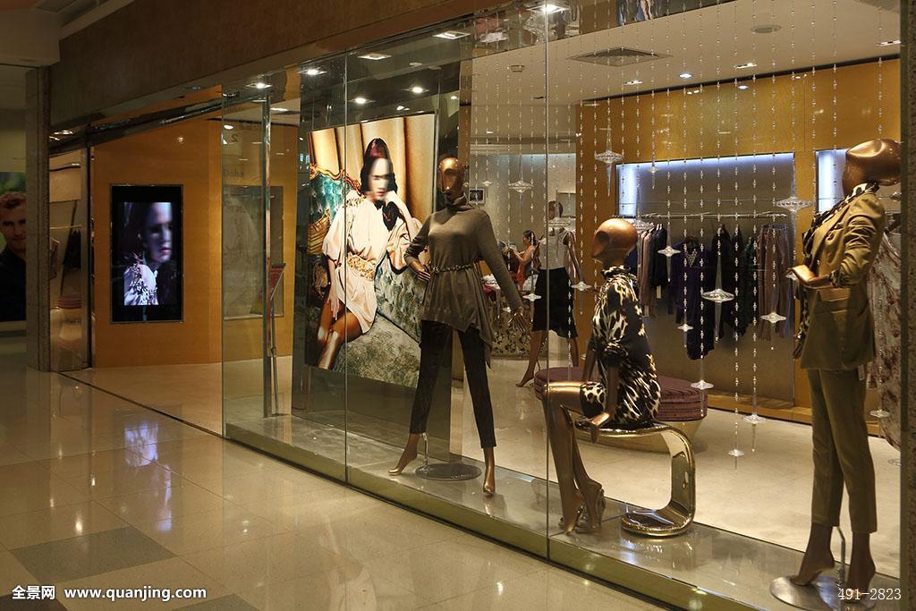 女装专柜,展示橱窗,玻璃图片