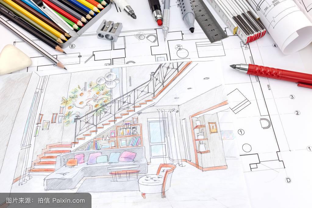 设计师工作室与手绘客厅手绘手绘图图片