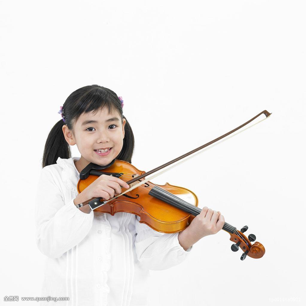 女孩,演奏,小提琴,微笑图片