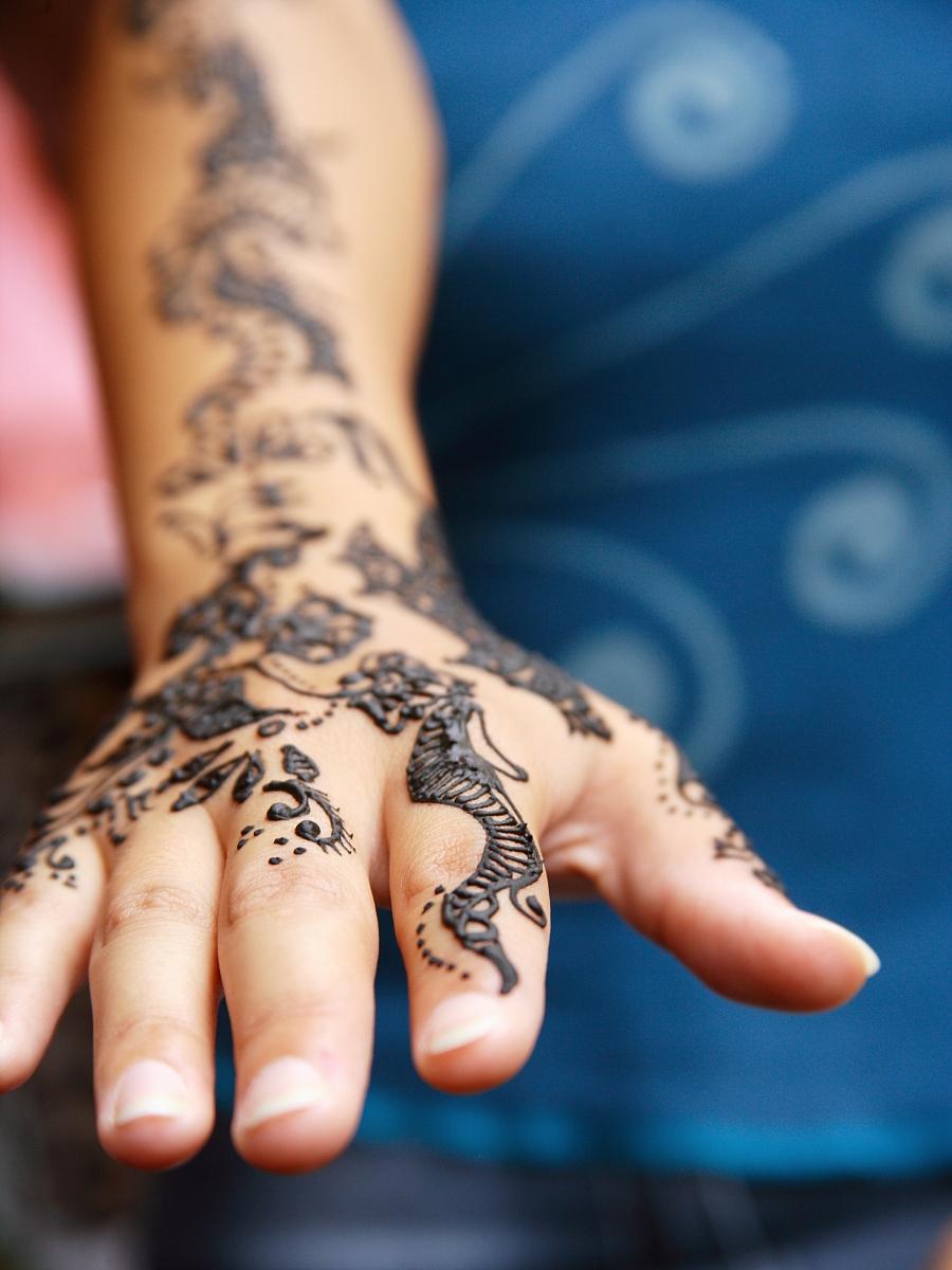 纹身花纹手分享展示图片