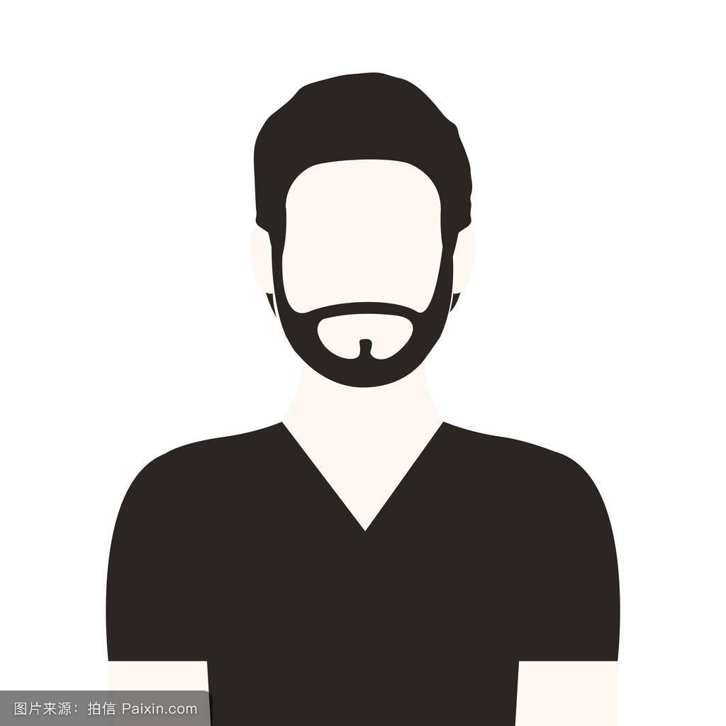 黑白脸半胡子男人图片