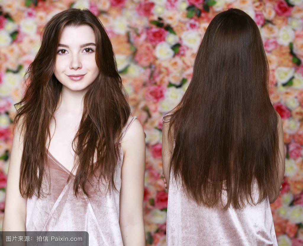 长头发烫发发型女分享展示图片