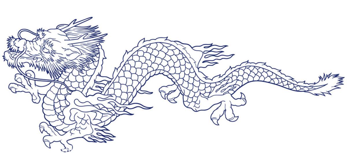长牙,传统,钉子,动物,怪物,快乐,龙,日本,日本人,纹身,想象,耶和华图片