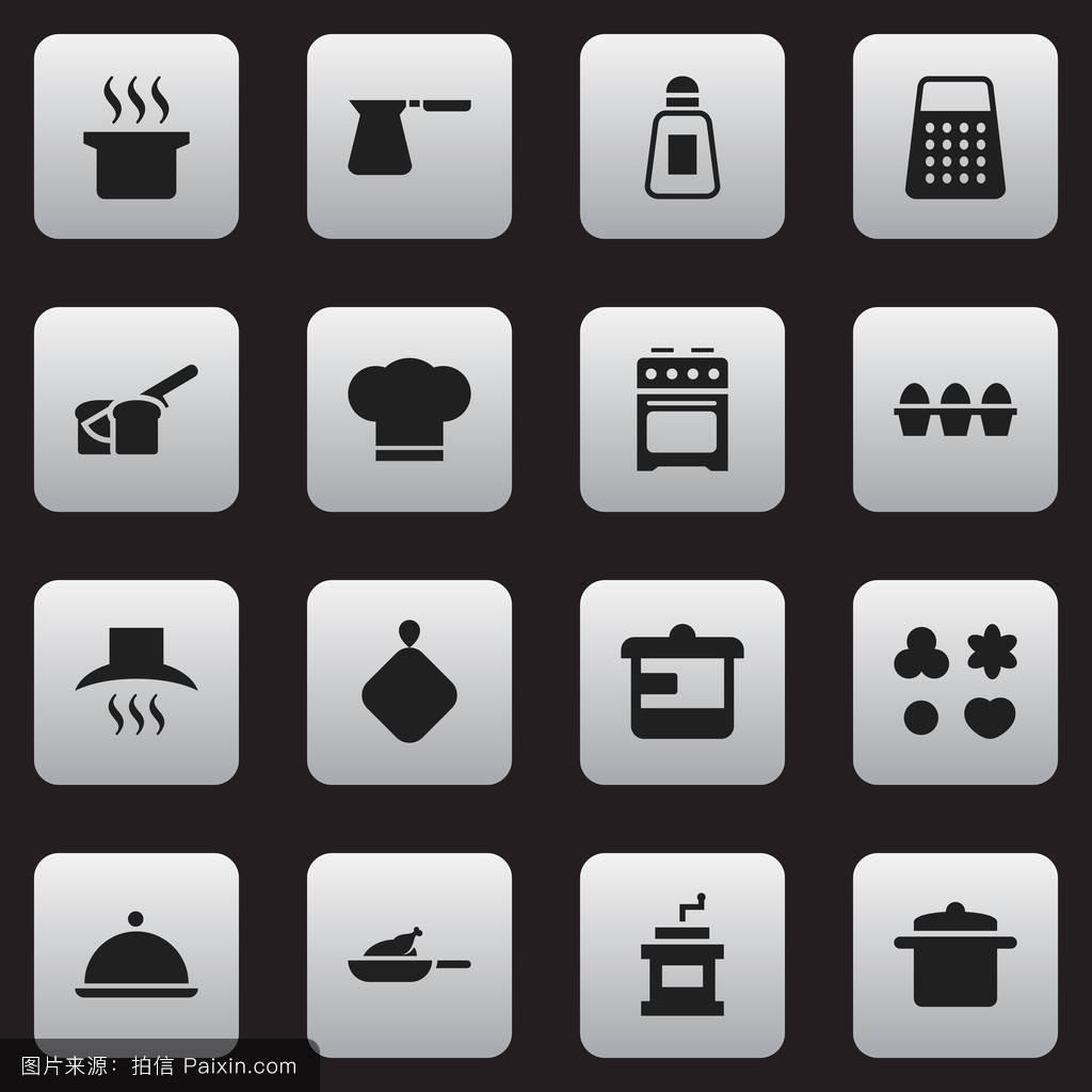 土耳其的,服务器,纸箱,炊具,香料,鸟,头,矢量,收集,餐饮,花,厨房用具图片