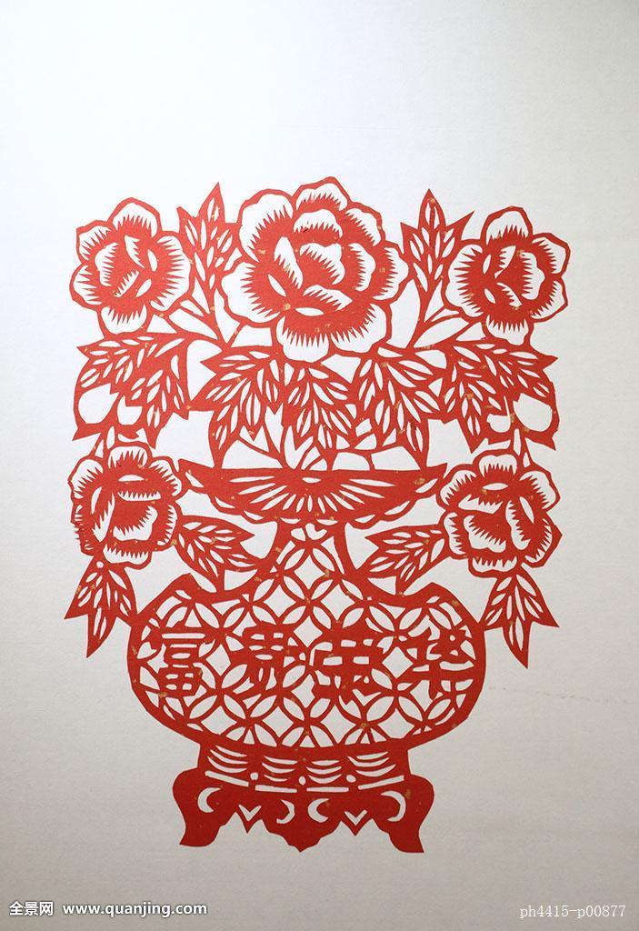 俯视,室内,剪纸,手工,手工作品,红色,喜庆,红纸,传统,传统工艺,民间图片
