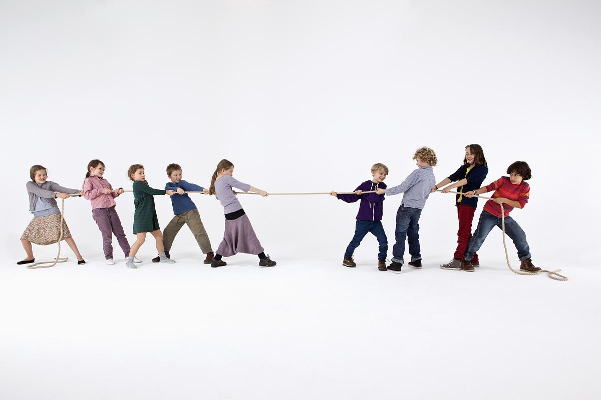 友谊从容态度多样纯洁绳子专心连接相伴决心竞争奋斗努力